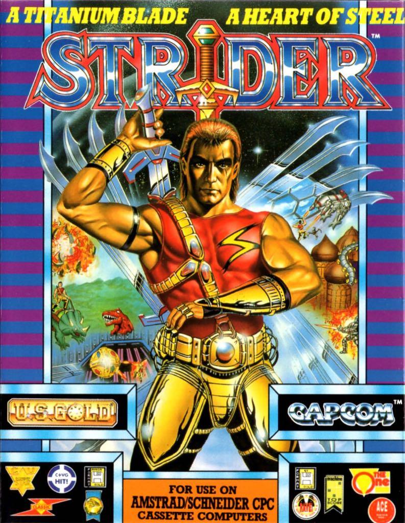 Strider - Commodore Amiga cover