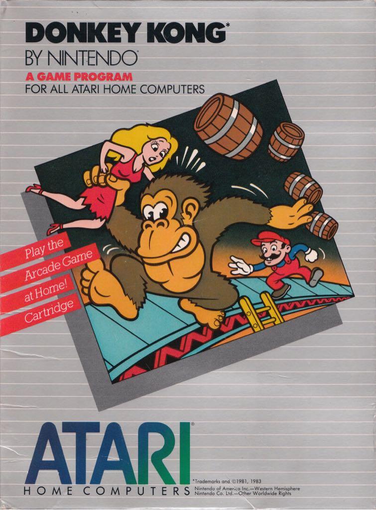 Donkey Kong - Atari 800 cover