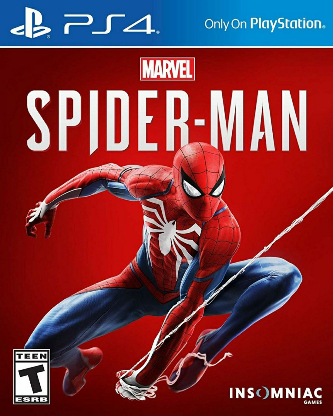 SPIDERMAN  - PS4 cover