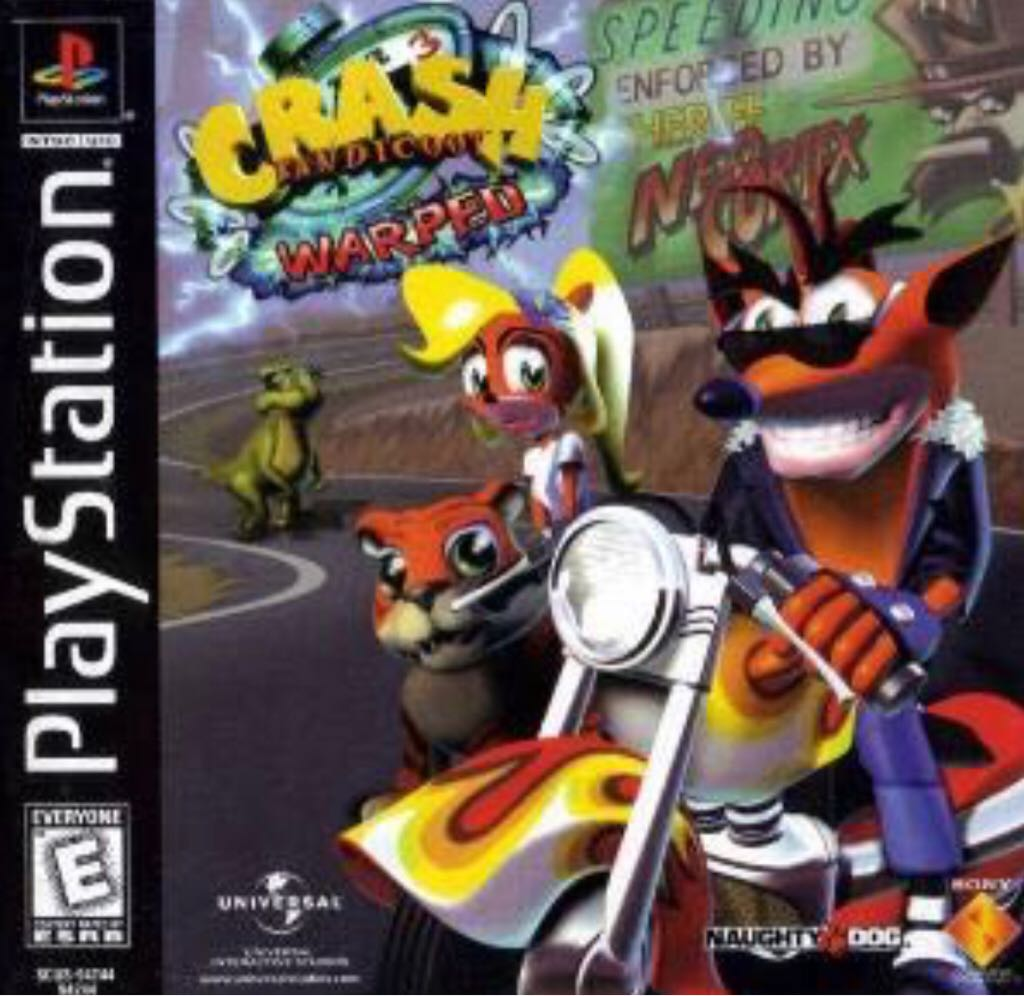 Crash Bandicoot: Warped - PS Vita cover