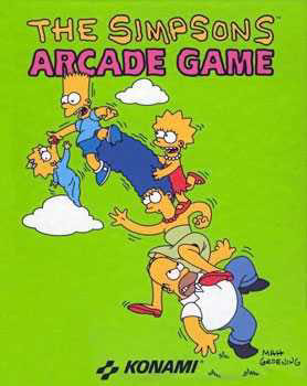 The Simpsons Game - Arcade cover