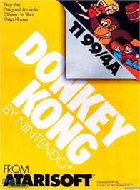 Donkey Kong - Texas Instruments TI-99 cover
