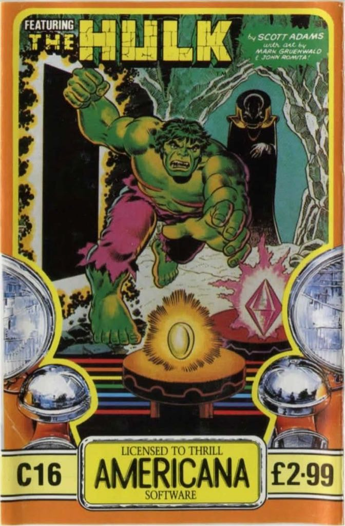 The Hulk - Commodore 64 cover