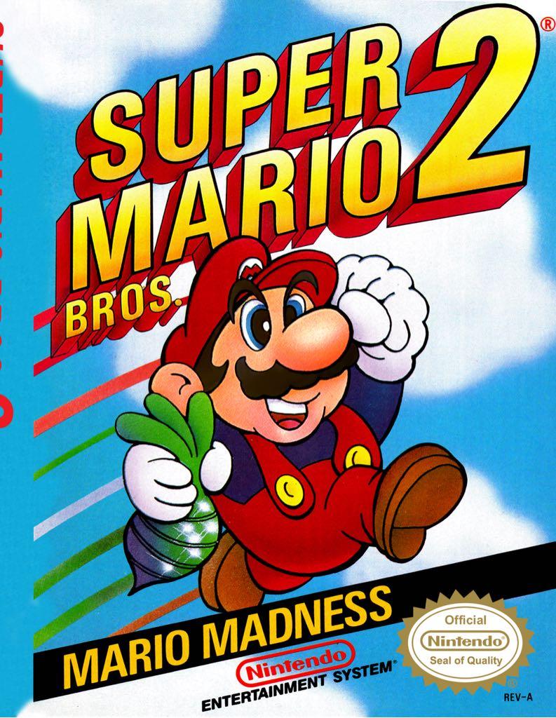Super Mario Brothers 2 - NES cover