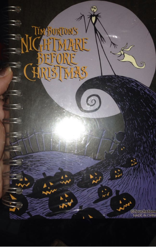 Nightmare Before Christmas Flip Journal Action Figure - Hot Topic back image (back cover, second image)