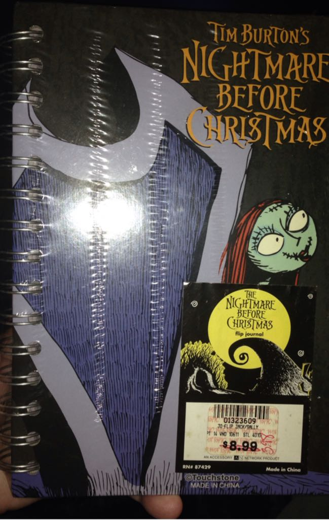 Nightmare Before Christmas Flip Journal Action Figure - Hot Topic front image (front cover)