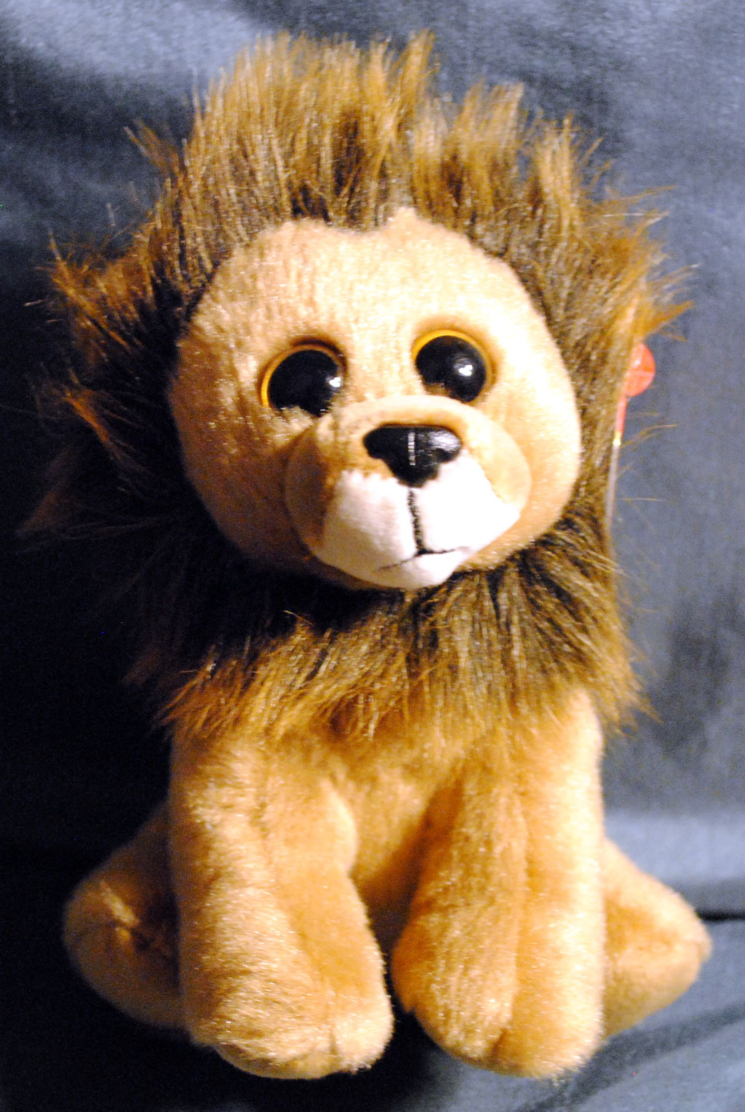 """Ty Original Beanie Babies ❤️ 6"""" Baby Babies Plush Cecil the Lion Action Figure - TY (2015) front image (front cover)"""