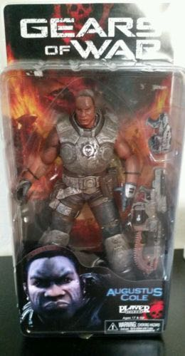 Gears Of War - Series 1 - Augustus Cole Action Figure - Neca back image (back cover, second image)