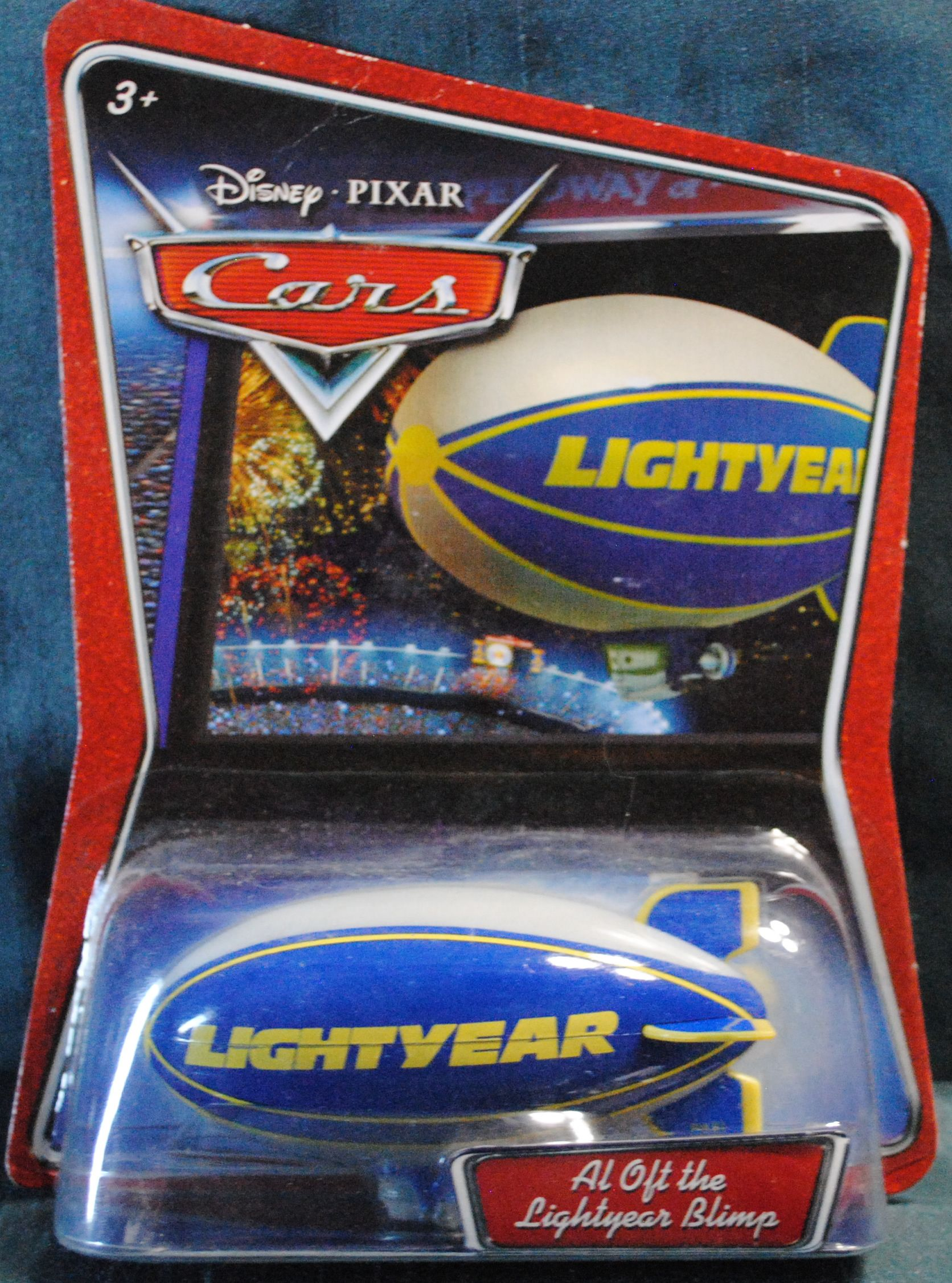CARS PIXAR The Lightyear Blimp Action Figure - Mattel (2008) front image (front cover)