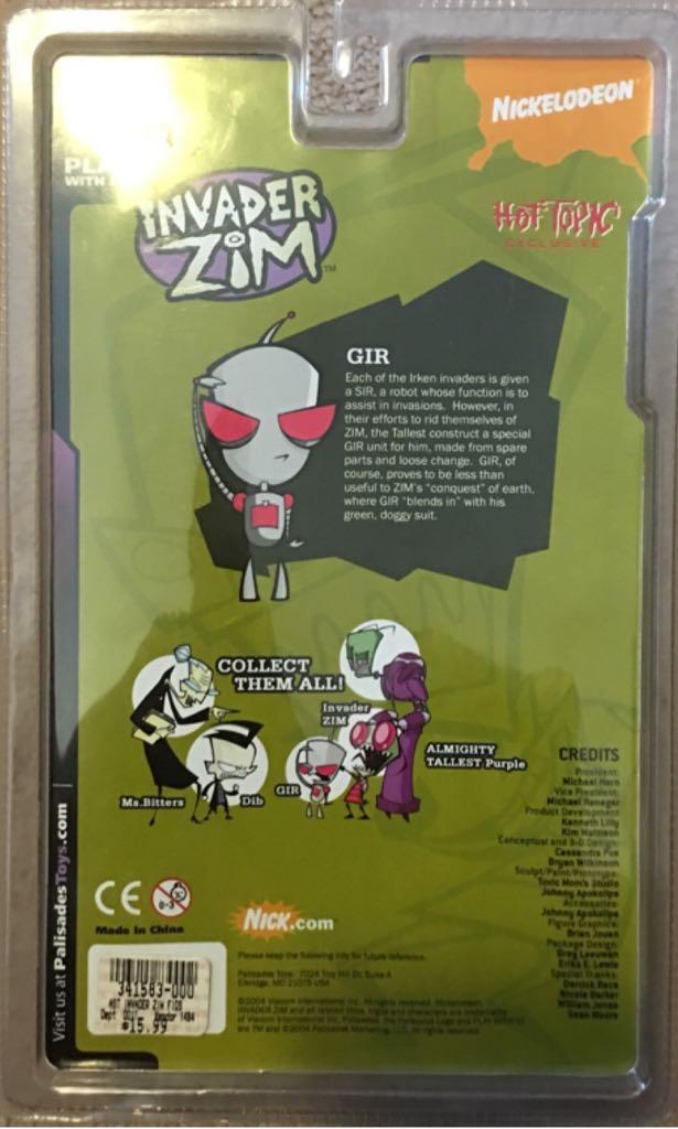 Invader Zim: GIR Action Figure back image (back cover, second image)