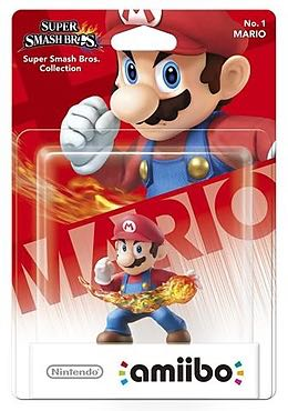Amiibo Smash Mario Action Figure front image (front cover)