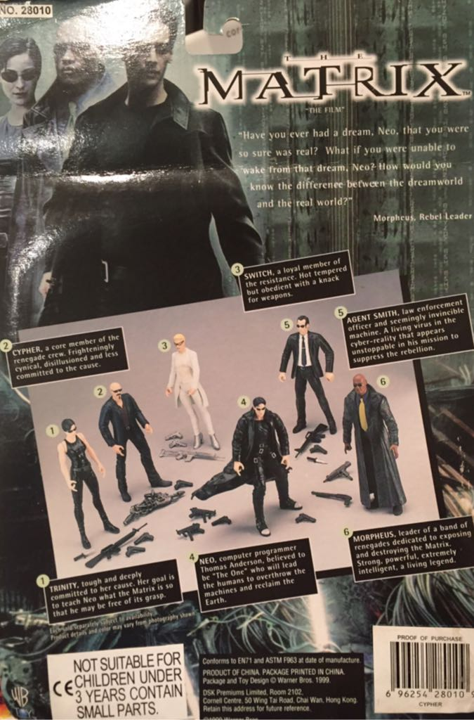 6 Cypher Action Figure The Matrix The Film by N2 Toys