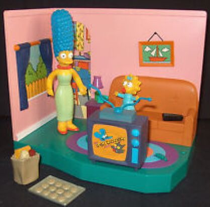 The Simpsons WOS Series 1 Playset Simpsons Living Room Action Figure    Playmates Front Image (