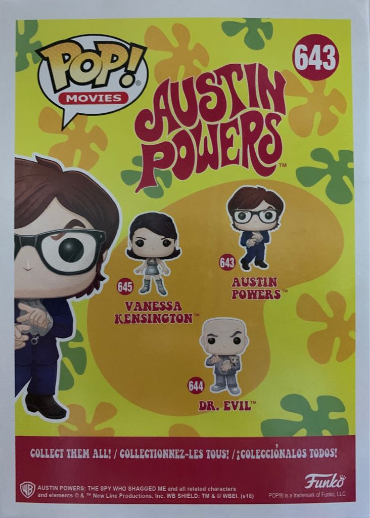 Pop! Movies Austin Powers: Austin Powers Action Figure - Funko back image (back cover, second image)
