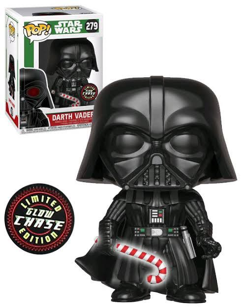 Pop! Star Wars: Darth Vader Christmas (Limited Glow Chase Edition) Action Figure - Funko (2018) front image (front cover)