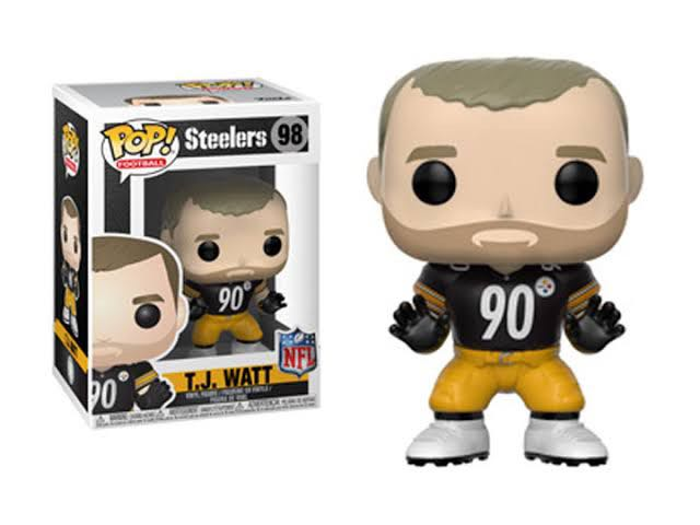 Pop! Football Steelers: T.J. Watt Action Figure - Funko (2018) front image (front cover)