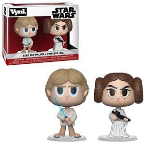 Vynl. Star Wars: Luke Skywalker & Princess Leia Action Figure - Funko (2018) front image (front cover)