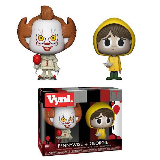 Vynl. It: Pennywise + Georgie Action Figure - Funko (2018) front image (front cover)