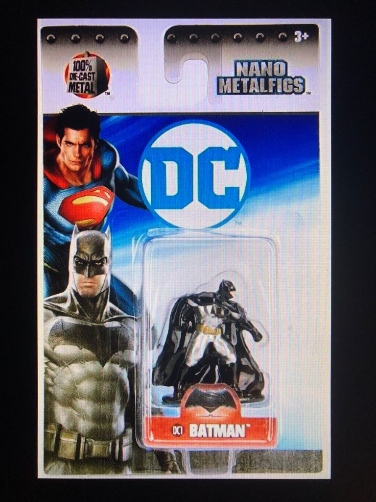 DC: 01IN: NMF: DC01: Batman v Superman: Dawn Of Justice: Batman Action Figure - Jada Toys (2017) front image (front cover)