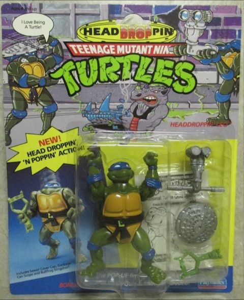 Headdroppin' Leo Action Figure - Playmates Toys (1991) front image (front cover)