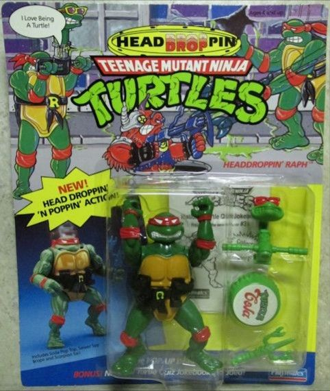 Headdroppin' Raph Action Figure - Playmates Toys (1991) front image (front cover)