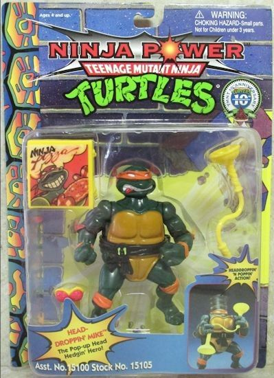 Headdroppin' Mike Action Figure - Playmates Toys (1991) front image (front cover)
