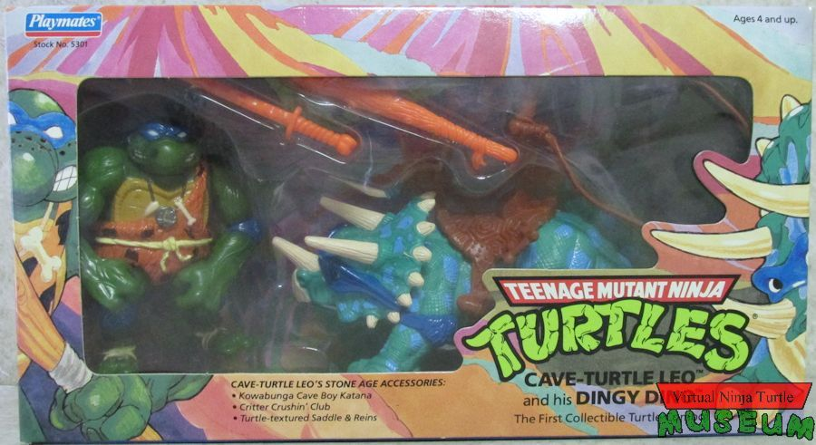 Cave-Turtle Leo Action Figure - Playmates Toys (1992) front image (front cover)