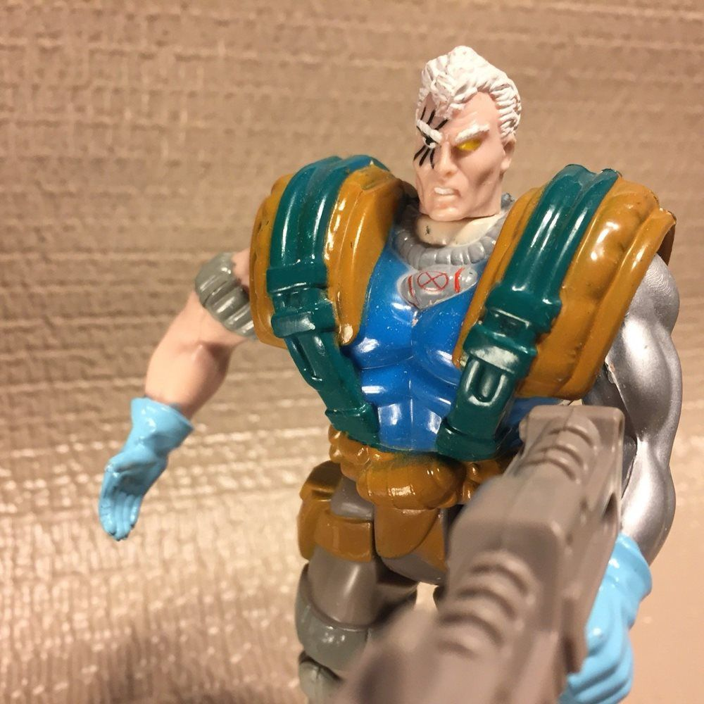 Cable Action Figure - Toy Biz (1992) back image (back cover, second image)