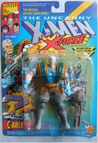 Cable Action Figure - Toy Biz (1992) front image (front cover)
