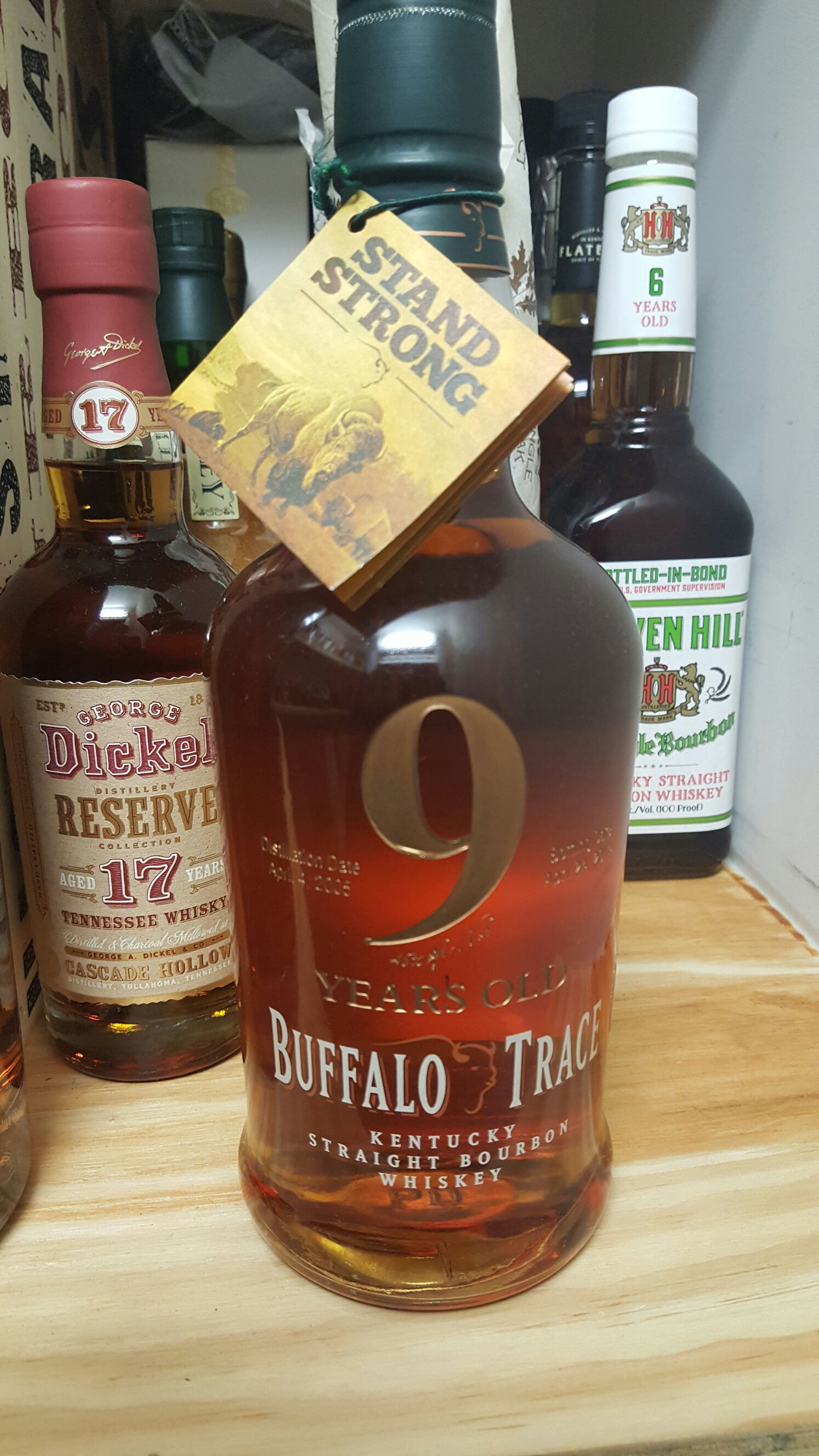 Buffalo trace 9yr special bottle Alcohol - Buffalo Trace front image (front cover)