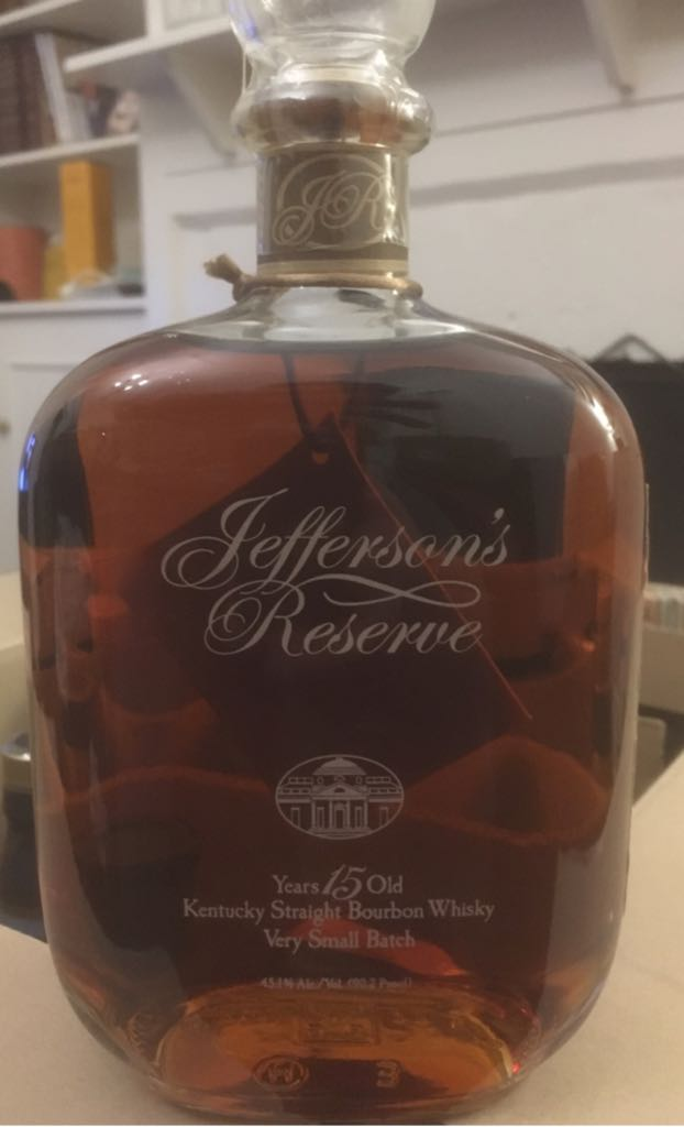 Jeffersons reserve Alcohol - McLain and Kyne distillery (Bourbon Kentucky Straight) front image (front cover)