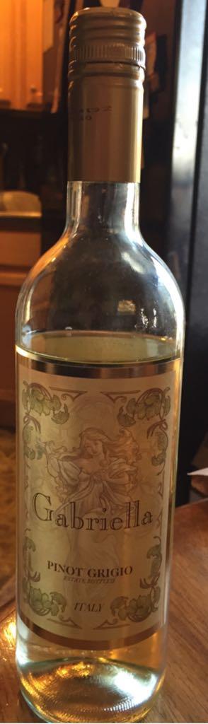 Gabriella Pinot Grigio Alcohol - Gabriella (Pinot Grigio) front image (front cover)