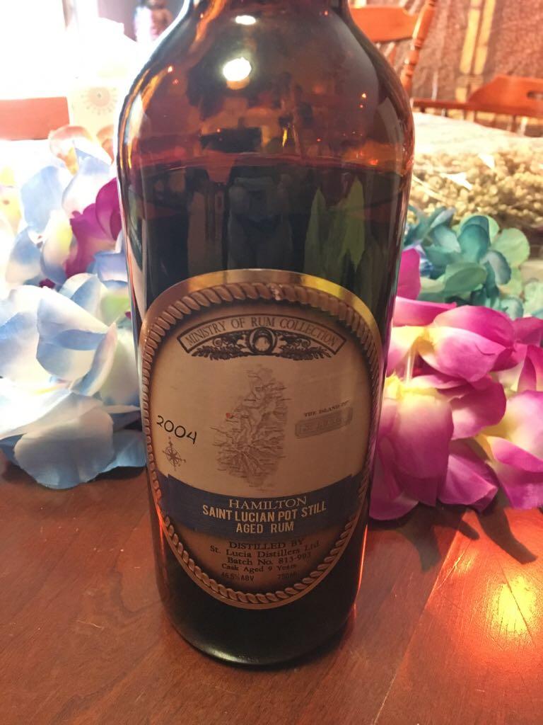 Hamilton Saint Lucian Pot Still Aged Alcohol - St. Lucia Distillers (Rum) front image (front cover)