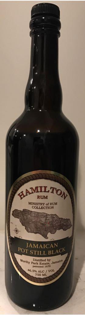 Hamilton Rum Jamaican Pot Still Black Alcohol - Worthy Park Estate (Rum: Jamaican) front image (front cover)