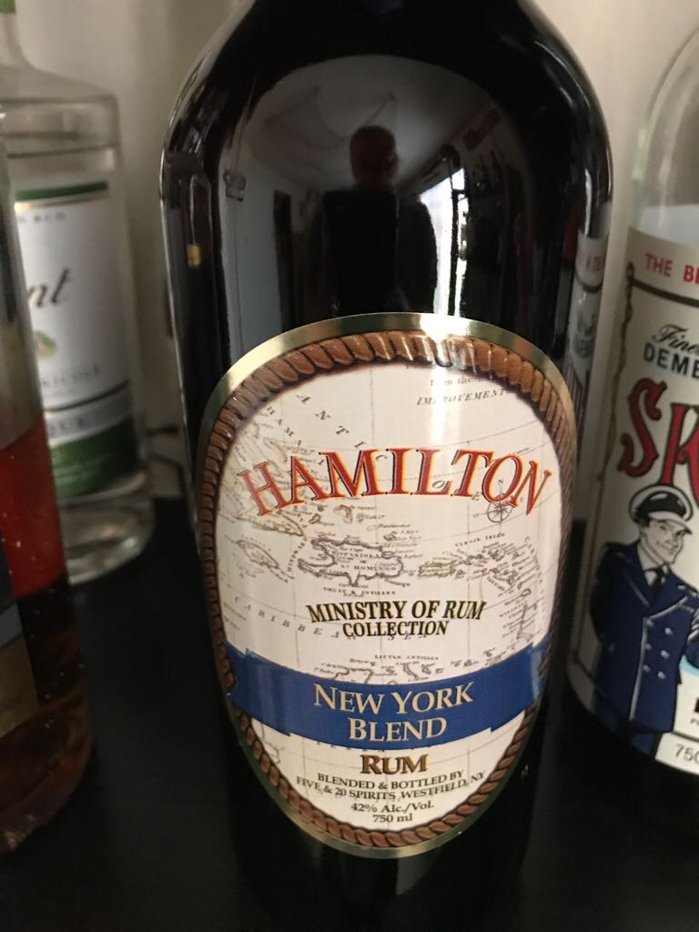 Hamilton New York Blend Alcohol - Hamilton Distillers (Blended Rum) front image (front cover)