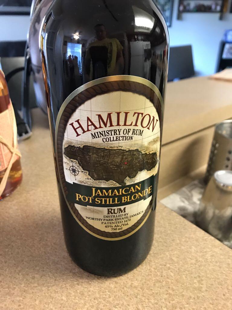 Hamilton Jamaican Pot Still Blonde Alcohol - Hamilton Distillers (Jamaican Pot Still) front image (front cover)