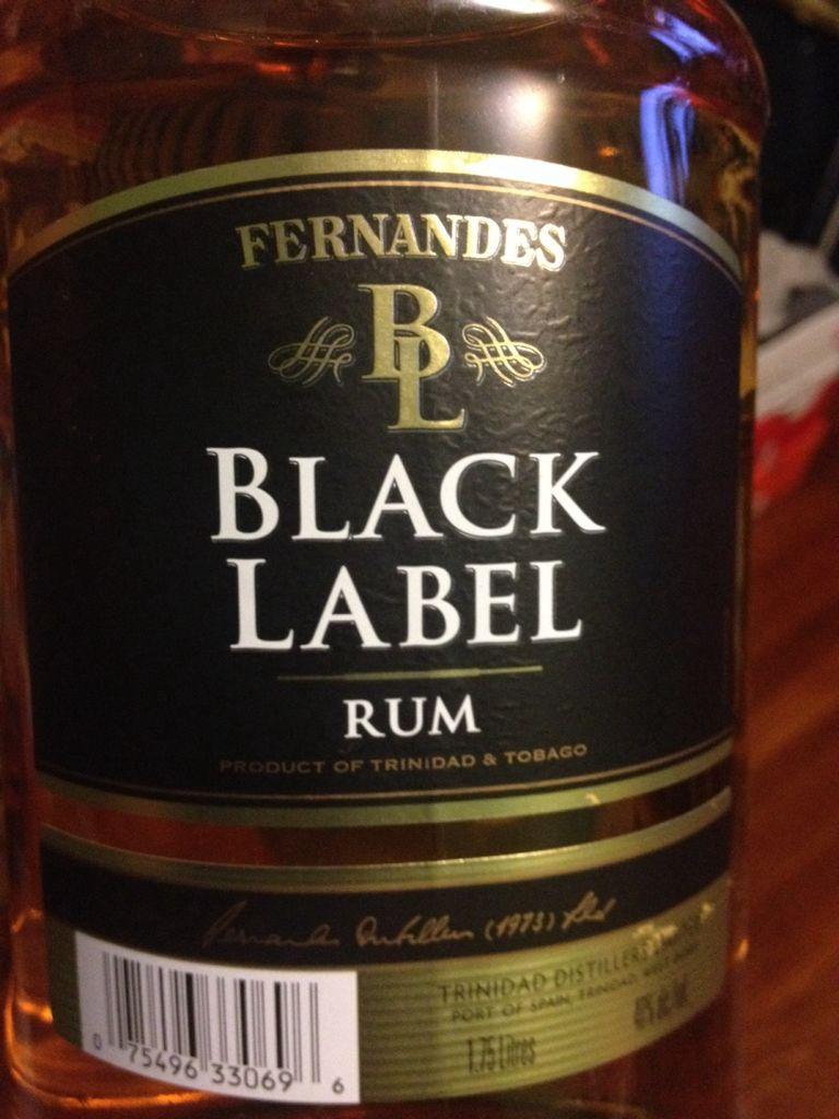 Fernandes Black Label Alcohol Trinidad Dark Rum From Sort It Apps