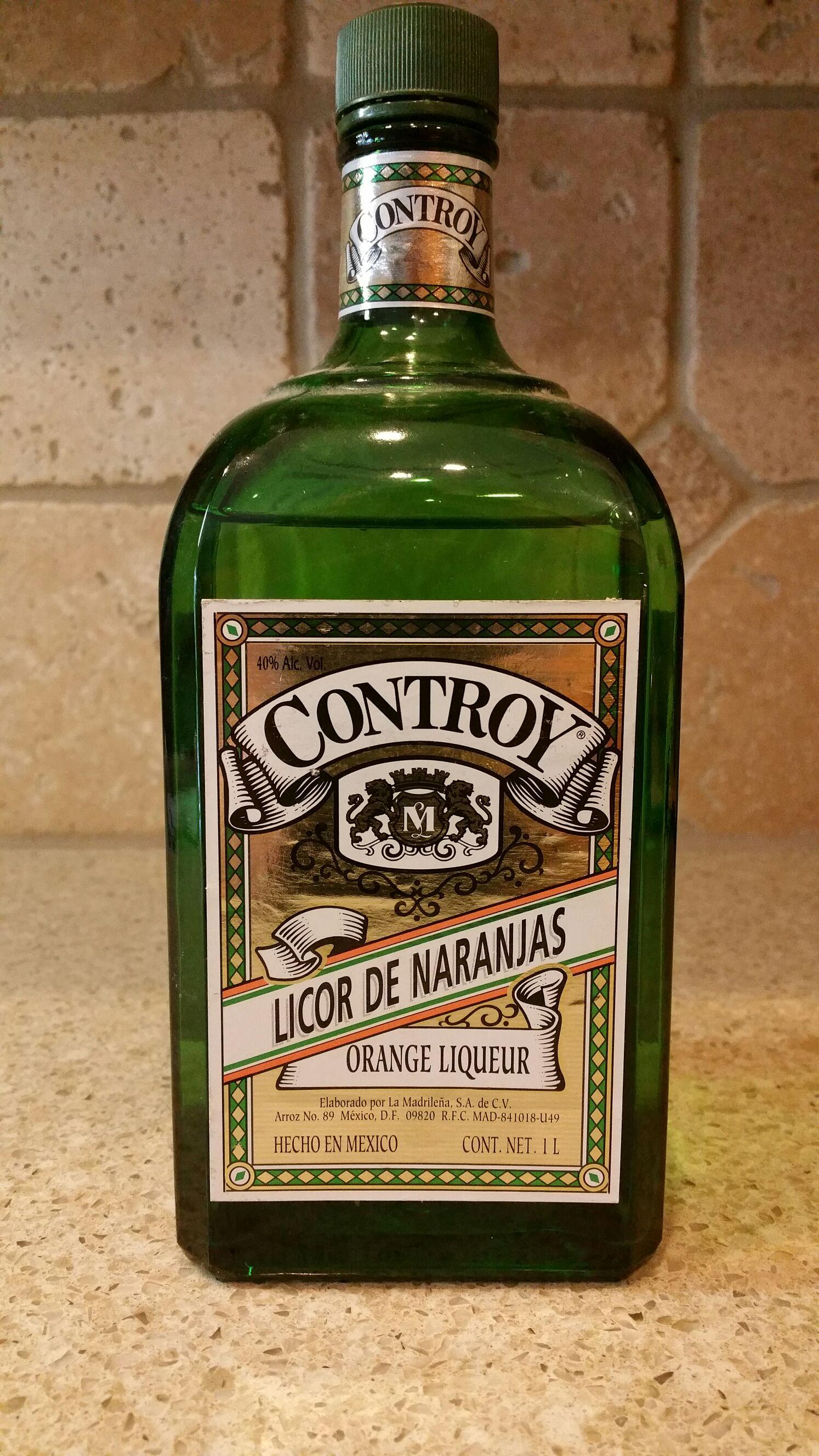 Controy Orange Liqueur Alcohol Elaborado Por La Madrilena Licor Front Image