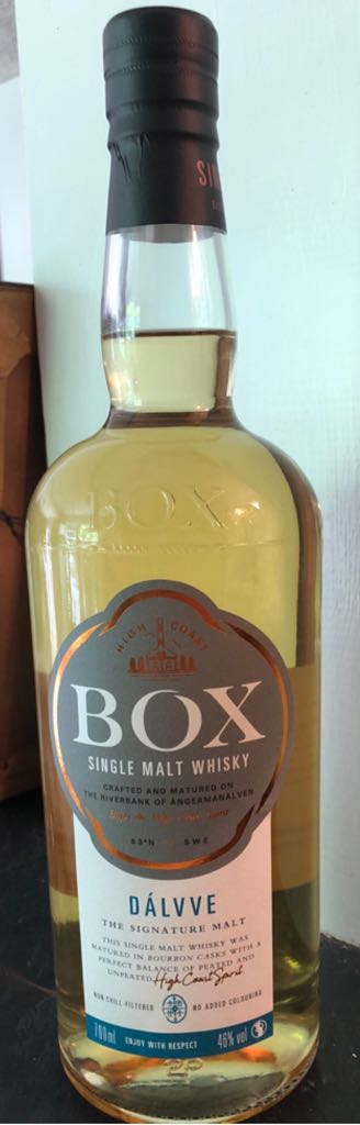 Box Dálvve Alcohol - High Coast Spirit (Single Malt Swedish Whisky) front image (front cover)