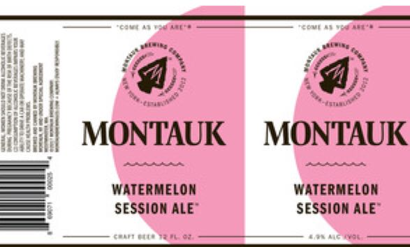 Montauk Watermelon Ale Alcohol - Montauk Brewing (Fruit IPA) front image (front cover)