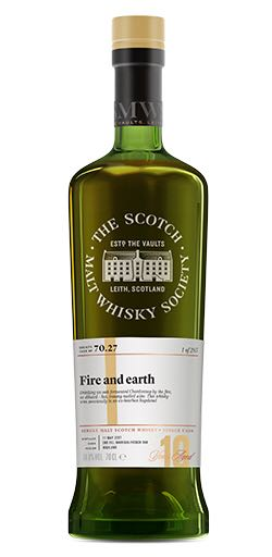 Balblair - 10 - SMWS 70.27 Fire and Earth Alcohol - The Balblair Distillery (Highland Single Malt Scotch Whisky) front image (front cover)