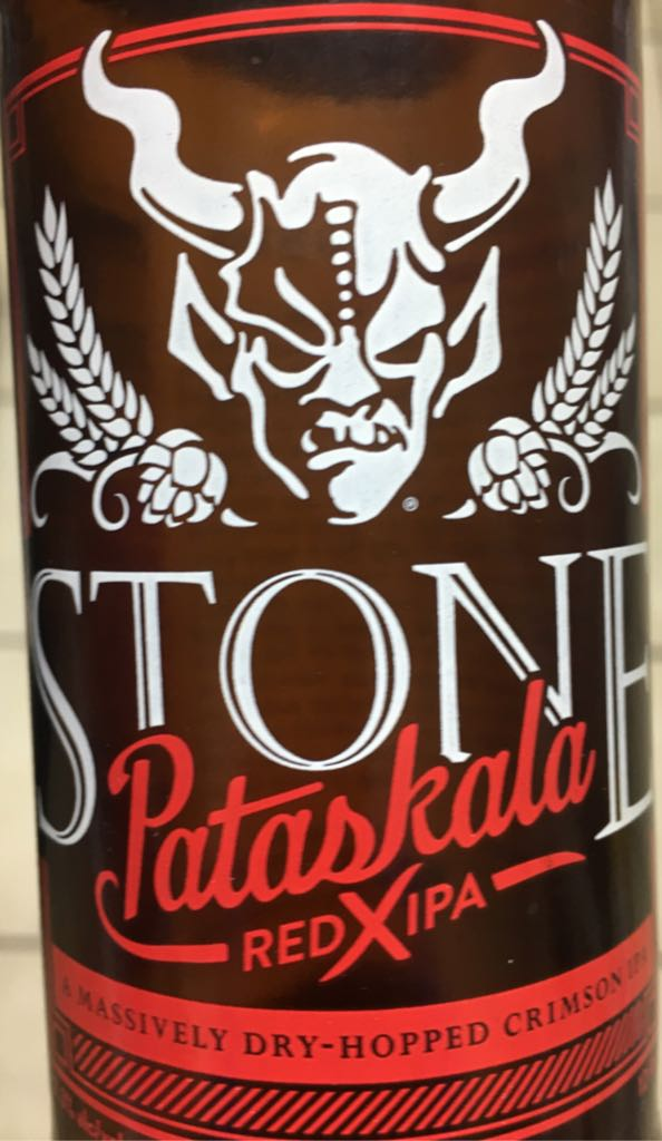 Pataskala Red X IPA Alcohol - Stone Brewing (American IPA) front image (front cover)