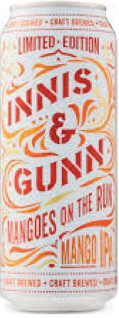 Mangoes On The Run Alcohol - Innis & Gunn (Fruit IPA) front image (front cover)