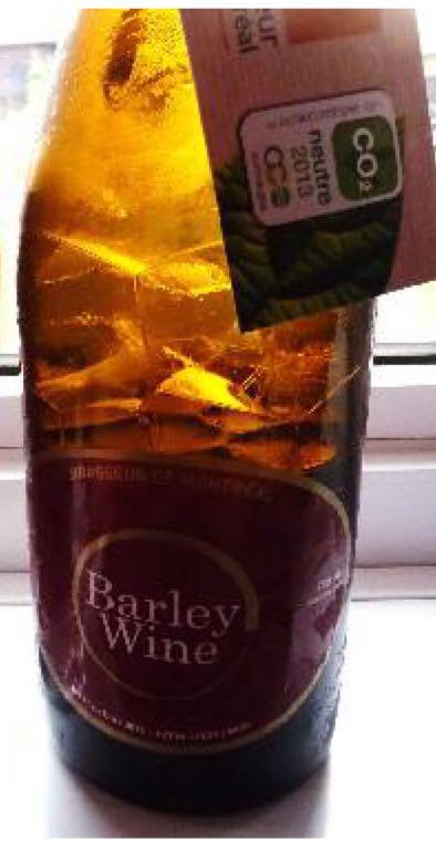 Barley Wine Alcohol - Brasseurs De Montreal (Barley Wine) front image (front cover)