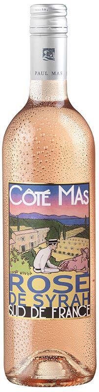 Côté Mas Syrah Rosé Alcohol - Pays d'Oc Indication Géographique Protégée (Wine) front image (front cover)