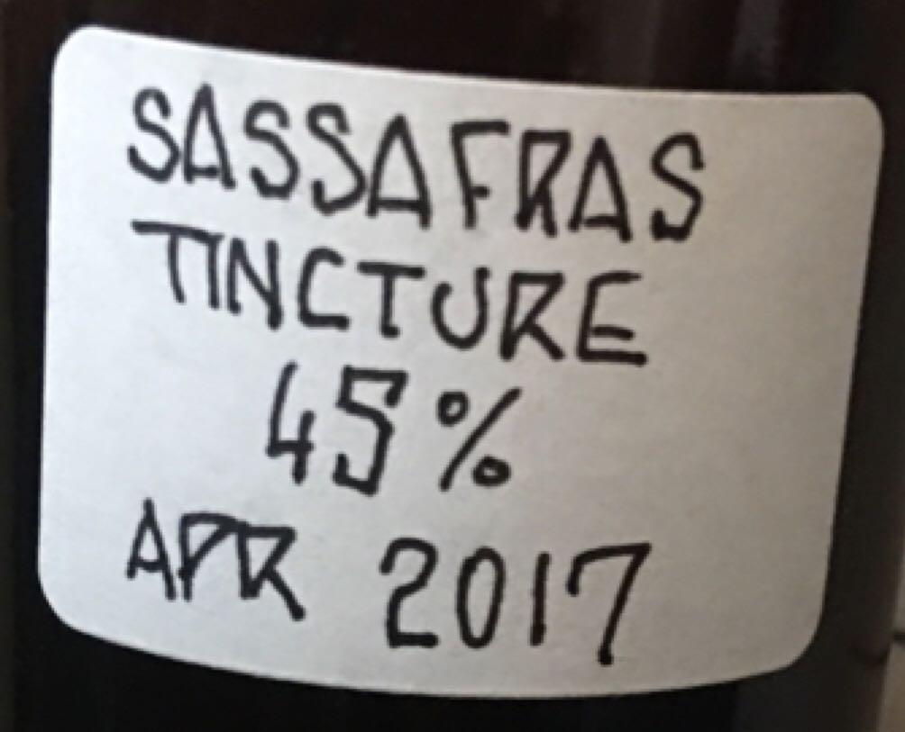 Tincture - Sassafras Alcohol - Caron (Infused vodka) back image (back cover, second image)