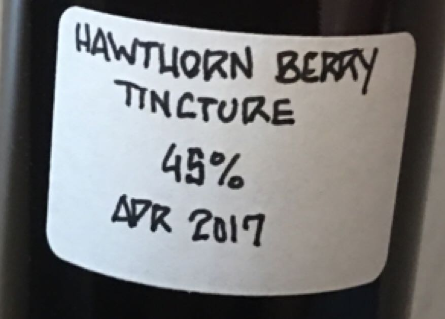 Tincture - Hawthorn Berry Alcohol - Caron (Infused vodka) back image (back cover, second image)