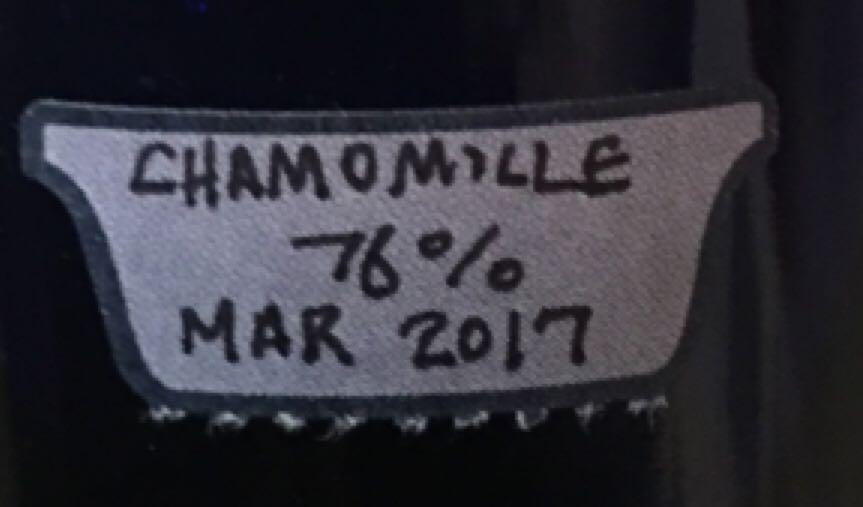 Tincture - Chamomile Alcohol - Caron (Infused vodka) back image (back cover, second image)