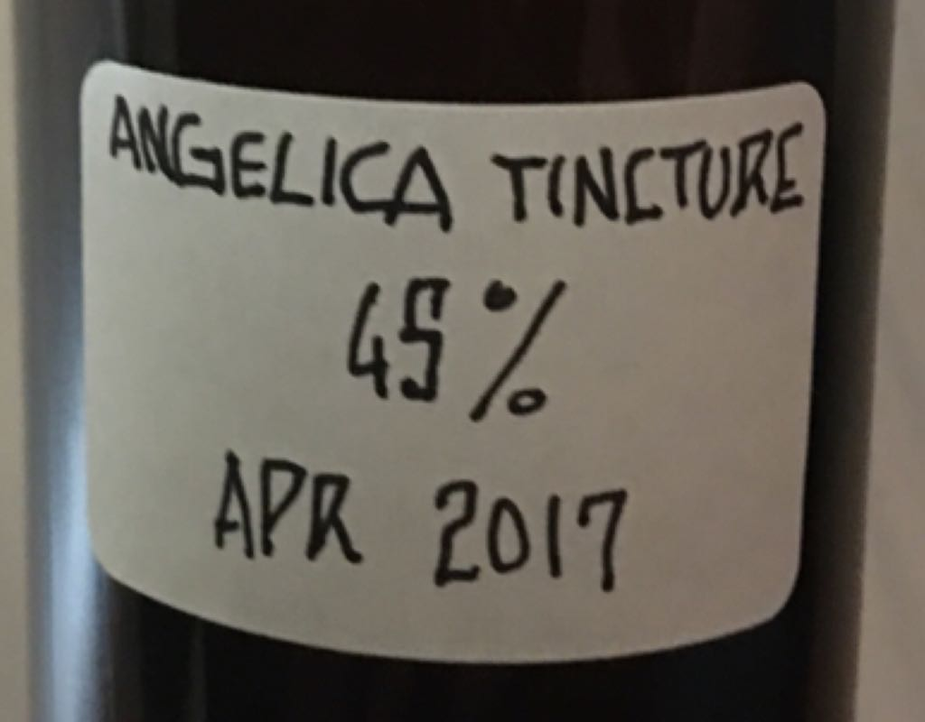 Tincture - Angelica Alcohol - Caron (Infused vodka) back image (back cover, second image)
