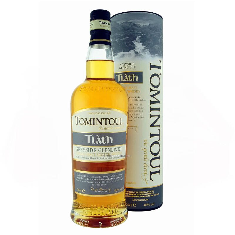 Tomintoul Tlath Alcohol - Tomintoul (Scotch) front image (front cover)